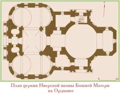 План Иверского храма на Всполье