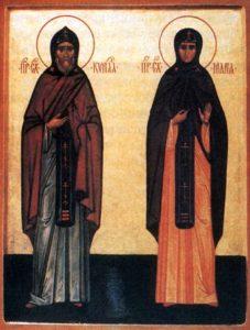 Икона прпп. Кирилла и Марии Радонежских