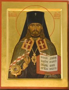Икона священномученика Фаддея, архиепископа Тверского, с частицей его мощей