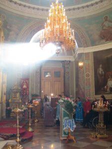Во время службы в Иверском Храме