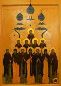 Икона 12 зодчих Свято-Успенской церкви.