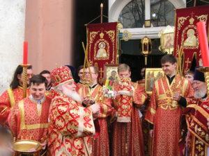 Богослужение арх. Арсения Истринского