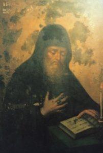 Икона прп. Зинона постника