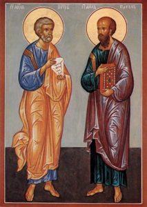 Икона Св. первоверховных апостолов Петра и Павла