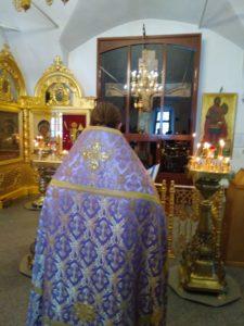 Молебен перед Крестом. О. Дмитрий