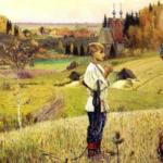 Картина Михаила Нестерова Видение отроку Варфоломею
