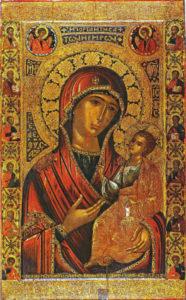 Образ Иверской Божией Матери, написанной Иамвлихом Романовым