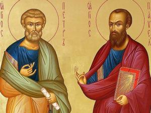 Икона свв. апостолов Петра и Павла