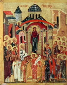 Икона Праздника Покрова Пресвятой Богородицы