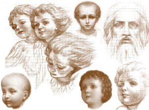 Иверский храм. Ротонда. Эскизы воссоздания живописи сводов конхи главного алтаря. Рисунок 2