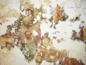 Иверский храм. Ротонда. Этапы реставрации живописи сводов конхи главного алтаря. Фото 6. Дата съемки 12.01.2004