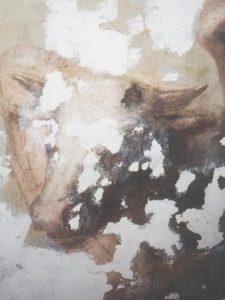 Иверский храм. Реставрация живописи. Ротонда. Купол во время реставрации. Фото 2