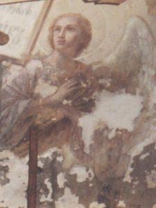 Иверский храм. Реставрация живописи. Ротонда. Купол до реставрации. Фото 5