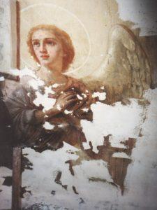 Иверский храм. Реставрация живописи. Ротонда. Купол во время реставрации. Фото 3