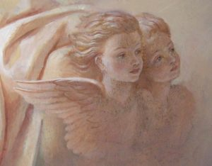 Иверский храм. Ротонда. Этапы реставрации живописи сводов конхи главного алтаря. Фото 12