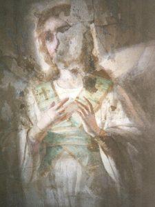 Иверский храм. Реставрация живописи. Ротонда. Купол до реставрации. Фото 6