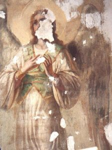 Иверский храм. Реставрация живописи. Ротонда. Купол во время реставрации. Фото 4