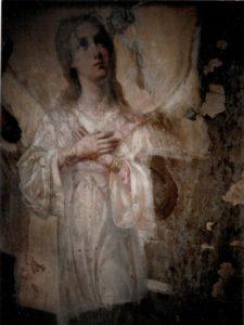Иверский храм. Реставрация живописи. Ротонда. Купол до реставрации. Фото 7