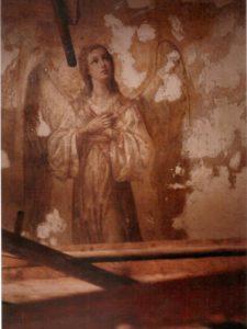 Иверский храм. Реставрация живописи. Ротонда. Купол во время реставрации. Фото 5