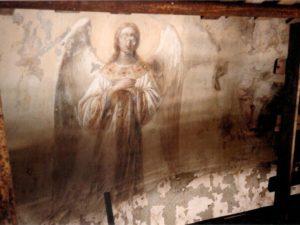 Иверский храм. Реставрация живописи. Ротонда. Купол до реставрации. Фото 8