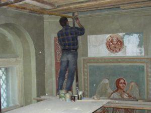 Иверский храм. Ротонда. Реставрация фигур ангелов. Фото 3