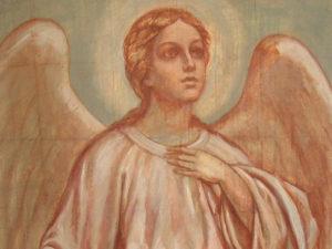 Иверский храм. Ротонда. Реставрация фигур ангелов. Фото 7