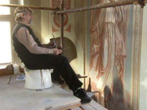 Иверский храм. Ротонда. Реставрация фигур ангелов. Фото 8