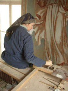 Иверский храм. Ротонда. Реставрация фигур ангелов. Фото 10