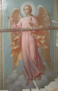 Иверский храм. Ротонда. Реставрация фигур ангелов. Фото 11
