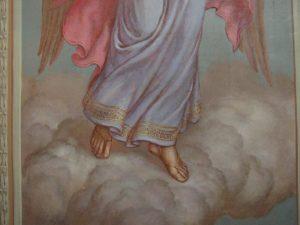 Иверский храм. Ротонда. Реставрация фигур ангелов. Фото 12