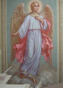 Иверский храм. Ротонда. Реставрация фигур ангелов. Фото 14