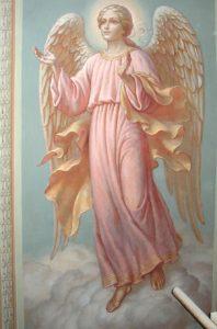 Иверский храм. Ротонда. Реставрация фигур ангелов. Фото 15
