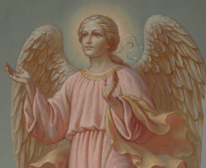 Иверский храм. Ротонда. Реставрация фигур ангелов. Фото 17