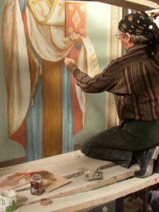 Иверский храм. Ротонда. Работа над созданием образов святителей Иоанна Златоуста и Василия Великого. Фото 22