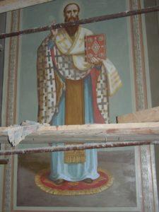 Иверский храм. Ротонда. Работа над созданием образов святителей Иоанна Златоуста и Василия Великого. Фото 23