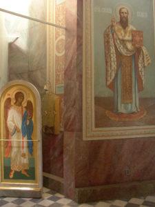 Иверский храм. Ротонда. Работа над созданием образов святителей Иоанна Златоуста и Василия Великого. Фото 26