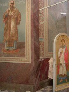 Иверский храм. Ротонда. Работа над созданием образов святителей Иоанна Златоуста и Василия Великого. Фото 27