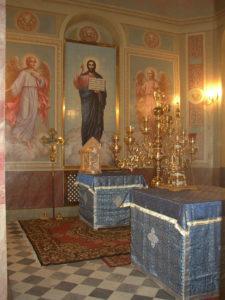 Иверский храм. Ротонда. Запрестольный Образ Спасителя, выполненный на керамической плитке. Фото 30